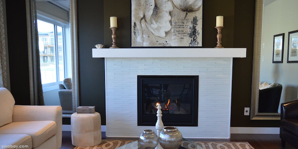 fireplace in home