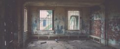 inside house with graffiti