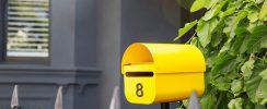 yellow letterbox