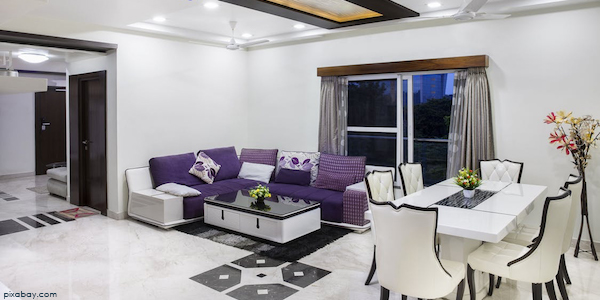 white interior of house