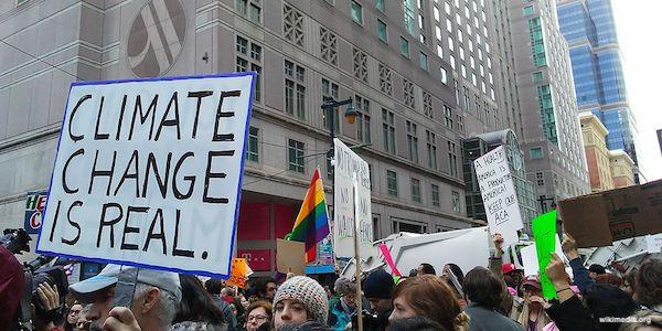protestors in street