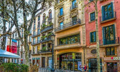 busy street Mallorca