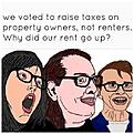 taxes and rent increases